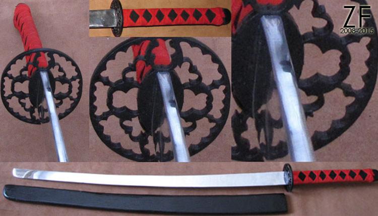 Катана с вороненым набором