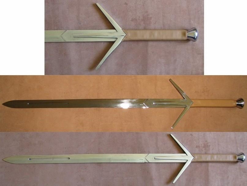 Серебряный меч ведьмака своими руками