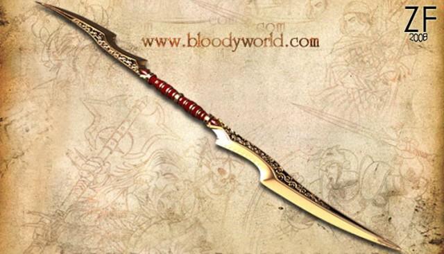 """Глефа кровавого заката из игры Bloody world, оригинальная версия, с которой, мастерская """"Зброевы фальварак"""" делала свою косплей версию"""