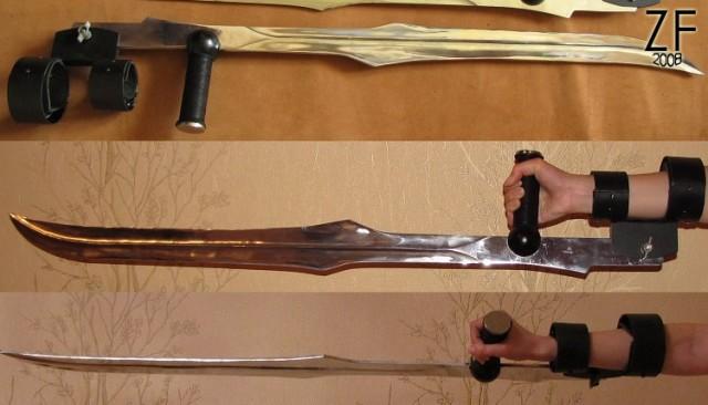 """Вид крепелений клинков Бладрейн (BloodRayne Twin Blades) от мастерской """"Зброевы фальварак"""""""