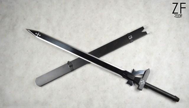 """Оригинальная версия меча Кирито, Чёрного мечника, с которой мы делали нашу стилизацию от мастерской """"Зброевы фальварак"""""""