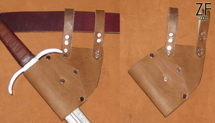Поясной подвес для меча пехотный