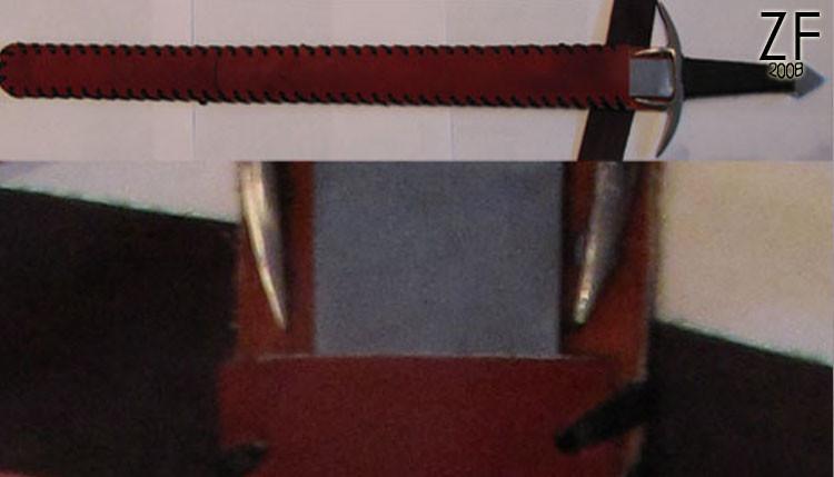 Ножны для меча из чепрака