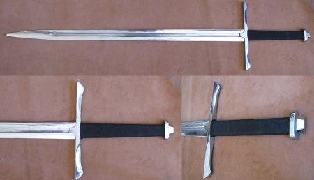 Дюралевый меч: полировка