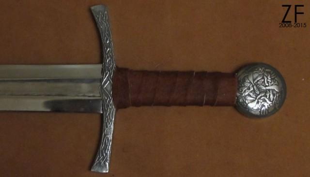 Травление навершия и гарды, меч тип XII по Окшотту