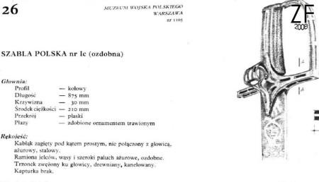 Варианты польских сабель, которые могут быть изготовлены мастерской «Зброевы фальварак»