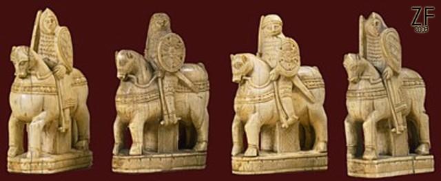 Пехотный щит шахматной фигурки с доски из сокровищницы Сен-Дени, времен Карла Великого