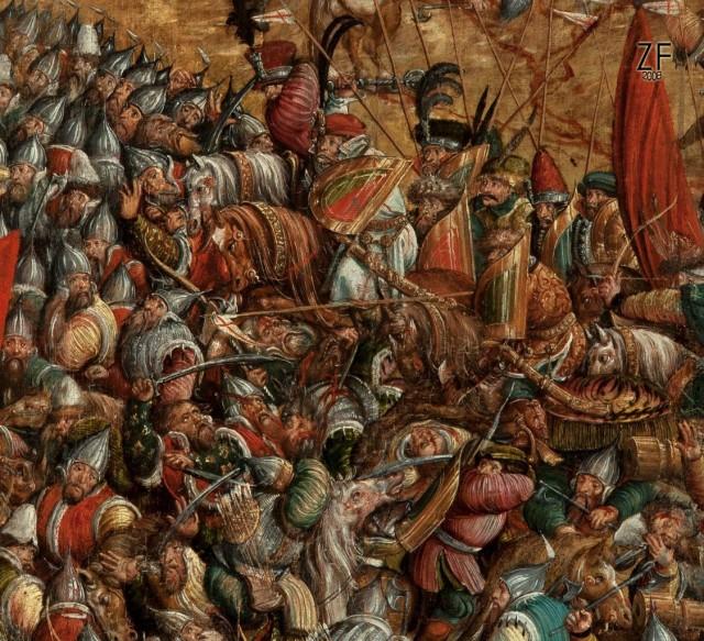 Оршанская битва 1514 года, легкие гусары - щит венгерский тарч, копье венгерское