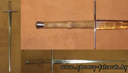 Рыцарский меч, тип ХХ А по Окшотту, стилизация на меч из коллекции Баварского национального музея г Мюнхена, ихготовление под заказ, сталь 65г
