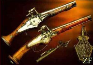 Пистолет с колесцовый замок