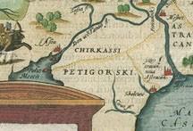 """Карта """"пятигорцы"""" английского картографа"""