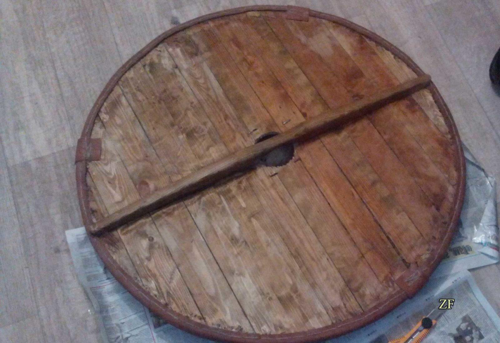 Изготовление круглого щита викингов, древнерусского щита