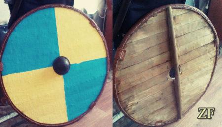 Круглый щит викингов, древнерусский щит