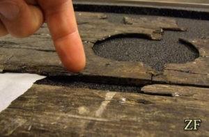 Толщин края щита эпохи викингов