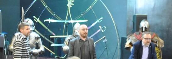 Слева: Ю. Устинович, Н. Павлинский, Ю.Бохан