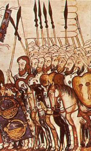Щит Адагра на миниатюре, XIII вв.