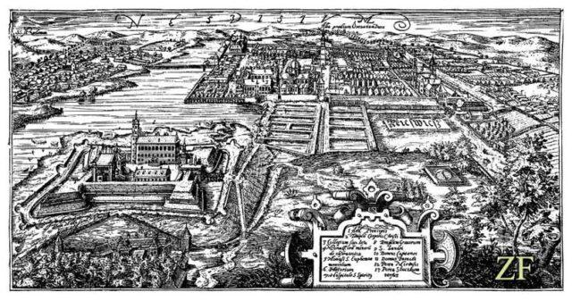 Несвиж и Несвижский замок в XVII веке