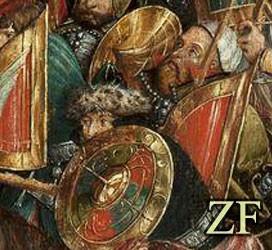 Оршанская битва, 1514 года, совместное использование венгерского тарча и стального рондаша в одном страю гусарии