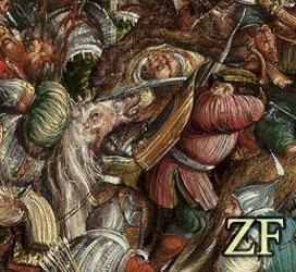 Оршанская бтва 1514 года, использование венгерского тарча для защиты спины во время сражения