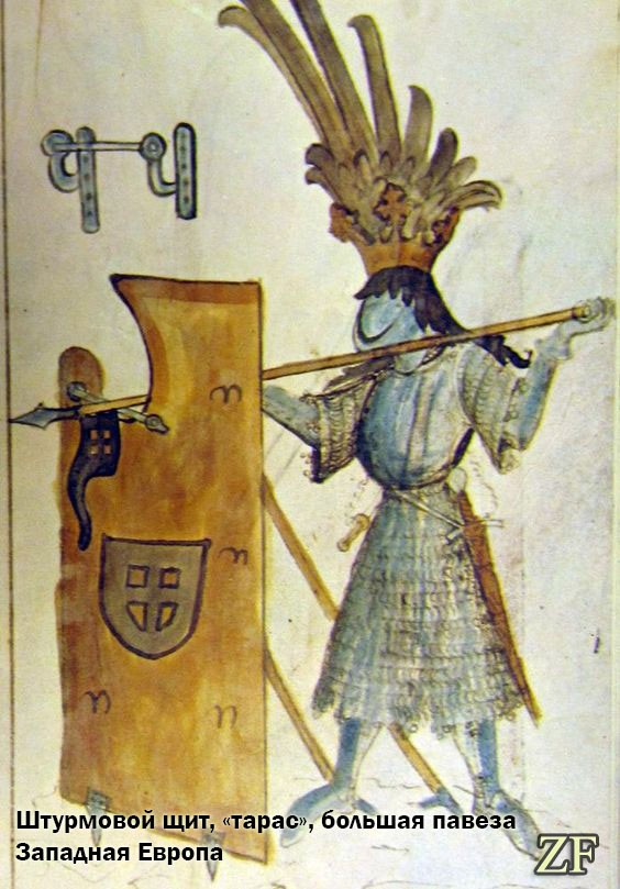Штурмовой щит, «тарас», большая павеза