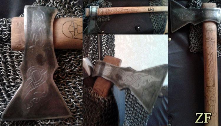 Топор викингов (травление), стилизация