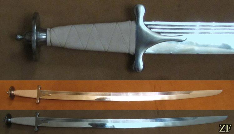 Тальвар, стилизация индийской сабли
