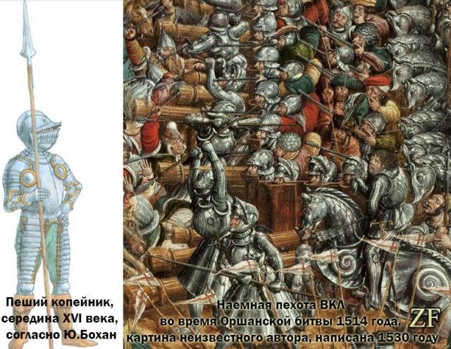 Пехота ВКЛ во время Оршанской битвы, 1514 года