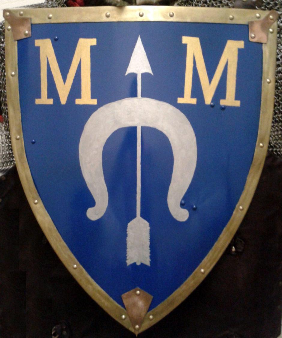 Малай геральдический щит (тарч) с гербом дворянского рода Думиных