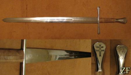 Меч unicornius, 65г сталь, травление клинка