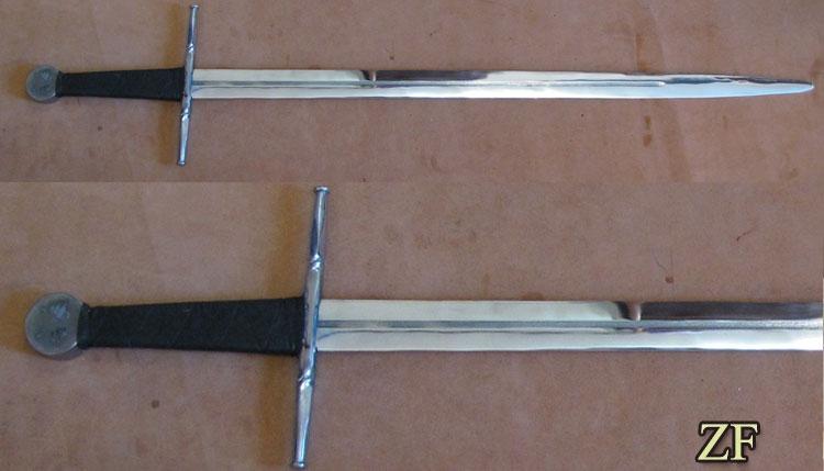 Стальной меч Ведьмака из метеоритного железа