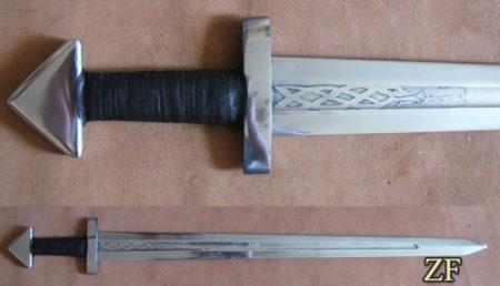 Каролинг, меч Викингов, древнерусский меч или варяжский меч, сталь 65г