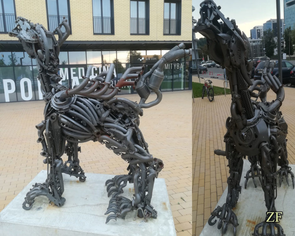 Образец современного искусства металлическая фигура J. Jasinskio g. 12 Мир Будущего