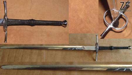Двуручный меч, стилизация типа XVIIIb