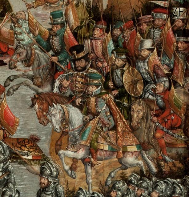 Венгерский тарч, у войск ВКЛ и Королевства Польского во время битвы у Орши в1514 году