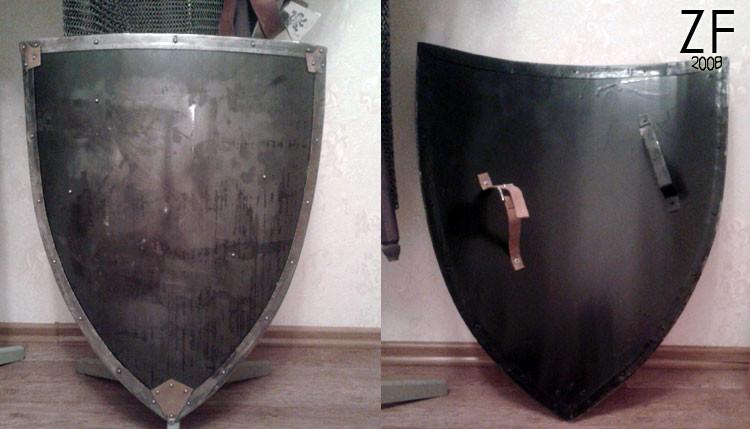 Металлический рыцарский щит - тарч