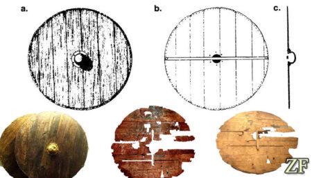 Круглый щит эпохи викингов, древнерусский круглый щит