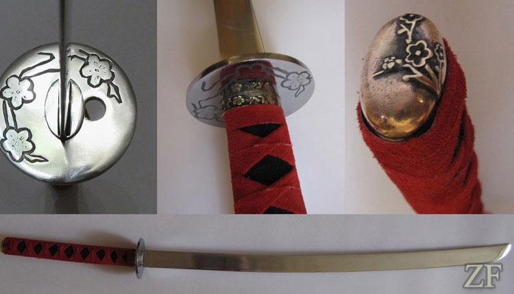 Катана с цубой (Камакура-бори)