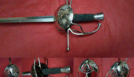 Шпага, с защитным щитком,сложный эфес