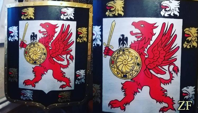 Испанский щит с малым гербом дома Романовых