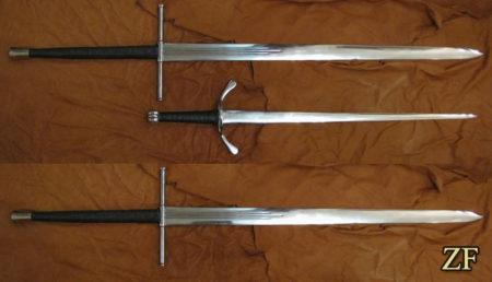 Двуручный меч тип ХХ по Окшотту из собрания Радзивилла Рыжего (Radziwiłł Mikołaj Rudy)