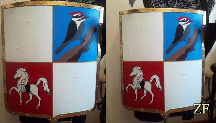 Геральдический щит с современной интерпретацией герба