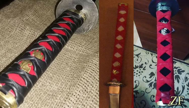 Варианты оплетки рукояти катаны мастерской Зброевы фальварак